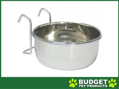 BirdLife Stainless Steel Coop Cup w/Holder Bowl Feeder For Birds 20oz (591ml)