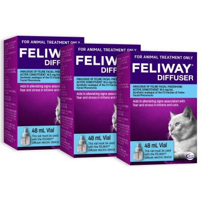 Feliway Diffuser Refill For Kittens And Cats 48ml x 3