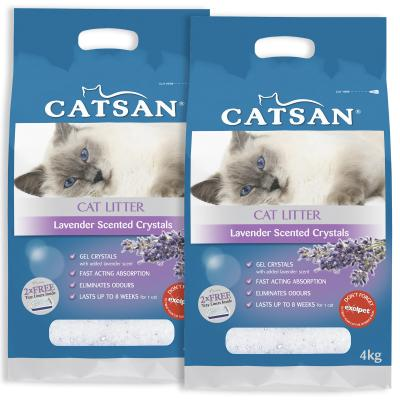 Catsan Crystal Lavender Scented Litter For Cats 8kg