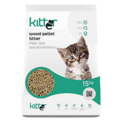 Kitter Wood Pellet Cat Litter 15kg