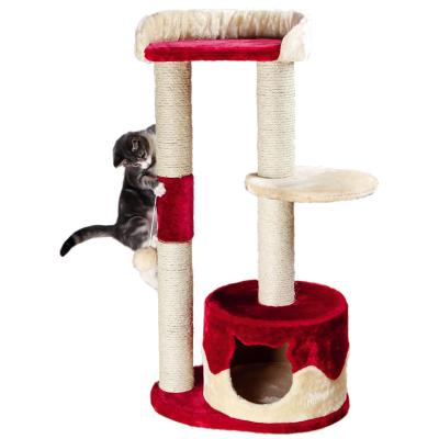 Trixie Pillar Scratching Post Red Beige Scratcher Tree Toy For Cats 100cm