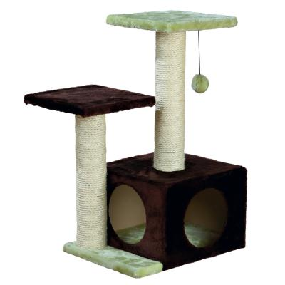Trixie Valencia Scratching Post Brown Green Scratcher Tree Toy For Cats 71cm