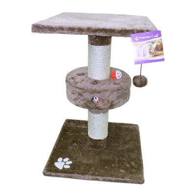 Trixie Cat Scratching Post Brown Scratcher Tree With Ball Toy For Cats 57cm