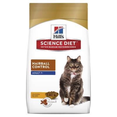 Hills Science Diet Hairball Control 7+ Mature/Senior Dry Cat Food 4kg  (10310HG)