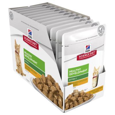 Hills Science Diet Healthy Development Chicken Kitten Pouches Wet Cat Food 85gm x 12 (11093LG)