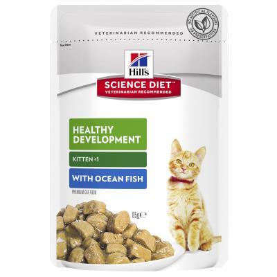 Hills Science Diet Healthy Development Ocean Fish Kitten Pouches Wet Cat Food 85gm x 12