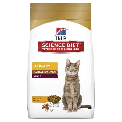 Hills Science Diet Urinary Hairball Control Adult Dry Cat Food 1.58kg   (10135)