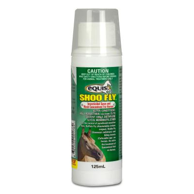 Equis Shoo Fly Insecticidal Spray And Wash Concentrate For Horses 125ml