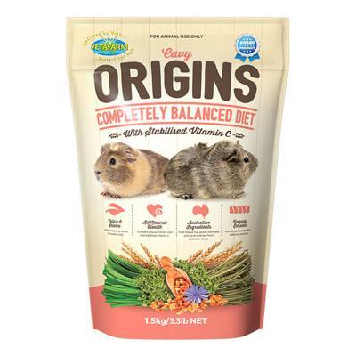Vetafarm Cavy Origins Balanced Diet Food For Guinea Pigs 1.5kg