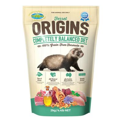 Vetafarm Ferret Origins Balanced Diet Grain Free Food For Ferrets 2kg