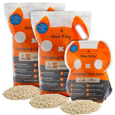 Rufus & Coco Wee Kitty Clumping Corn Cat Litter 10kg