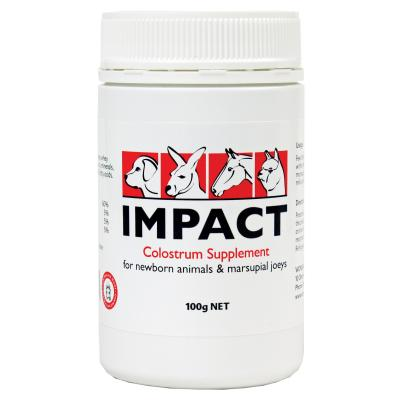 Wombaroo Impact Colostrum Supplement For Dogs Cats Livestock Small Animals 100gm