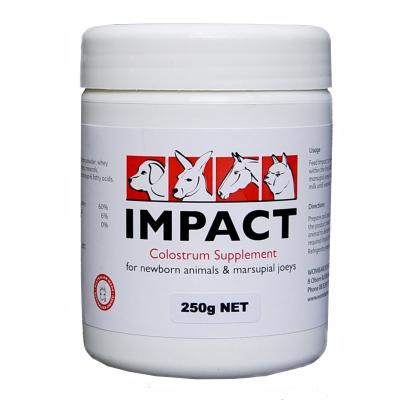 Wombaroo Impact Colostrum Supplement For Dogs Cats Livestock Small Animals 250gm