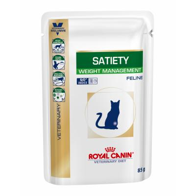 Royal Canin Veterinary Diet Feline Satiety Weight Management Pouch For Cat 85gm x 12