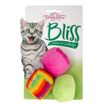 Trouble & Trix Bliss Balls Toy With Catnip For Cats 3 Pack