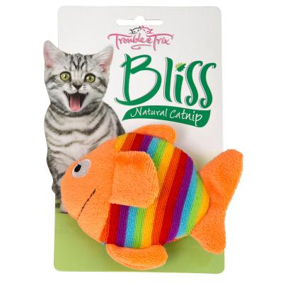 Trouble & Trix Bliss Fish Large Toy With Catnip For Cats