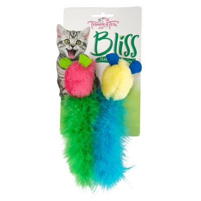 Trouble & Trix Bliss Mice Toy With Catnip For Cats 2 Pack