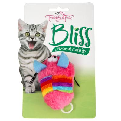 Trouble & Trix Bliss Vibro Mouse Toy With Catnip For Cats