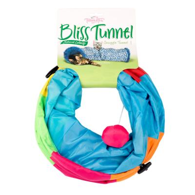 Trouble & Trix Bliss Adventure Play Tunnel Catnip Toy For Cats 50cm