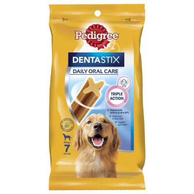 Pedigree Dentastix Daily Oral Care Dental Stick Large 7 Pack Treat For Dogs 270g