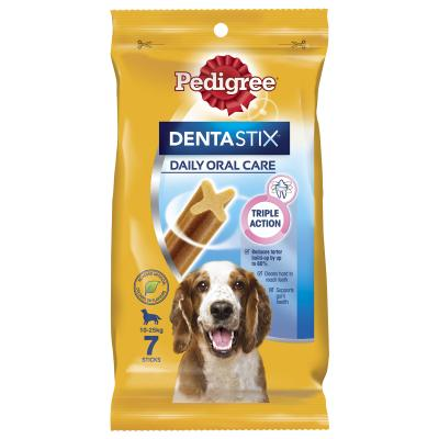 Pedigree Dentastix Daily Oral Care Dental Stick Medium 7 Pack Treat For Dogs 180g