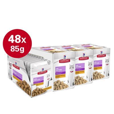 Hills Science Diet Age Defying Chicken 11+ Mature/Senior Pouches Wet Cat Food 85gm x 48