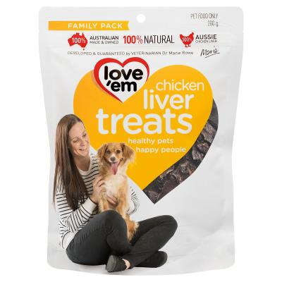 Love Em Chicken Liver Treats For Dogs 200gm