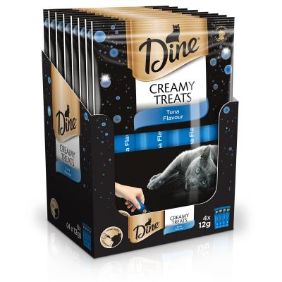 Dine Creamy Treats Tuna Flavour Paste Treat For Cats 12gm x 32