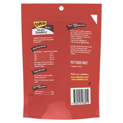Schmackos Meaty Tenderz Beef Treats For Dogs 100g