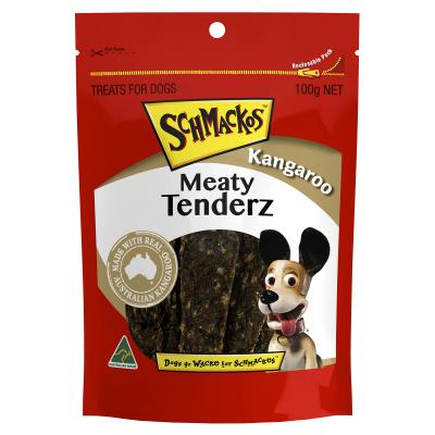 Schmackos Meaty Tenderz Kangaroo Treats For Dogs 100g