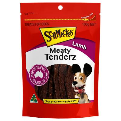 Schmackos Meaty Tenderz Lamb Treats For Dogs 100g