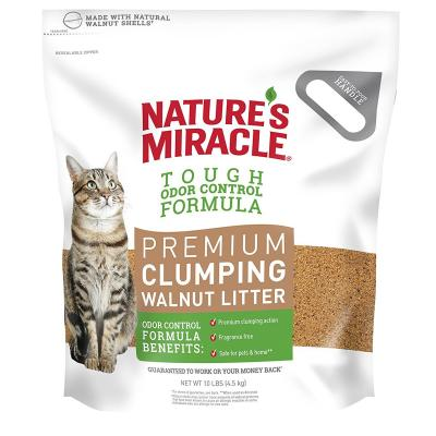 Natures Miracle Premium Clumping Walnut Cat Litter 4.5kg