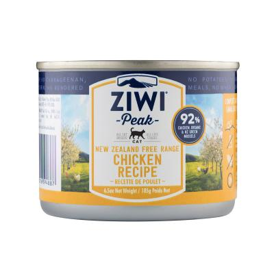 Ziwi Peak Grain Free Chicken Kitten And Adult Canned Wet Meat Cat Food 12 x 185gm