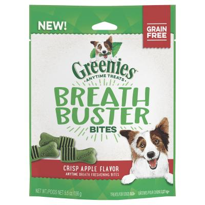 Greenies Grain Free Breath Buster Bites Crisp Apple Flavour Dental Treats For Dogs 156gm