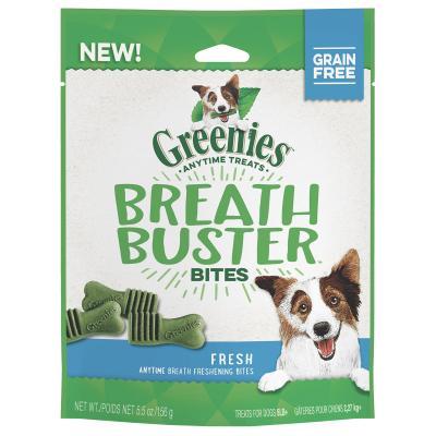 Greenies Grain Free Breath Buster Bites Fresh Flavour Dental Treats For Dogs 156gm