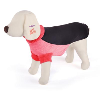 Kazoo Active Jumper Dog Coat Peach And Black XXSmall 27cm