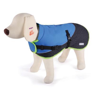 Kazoo Active Two Tone Dog Coat Blue Intermediate 53cm