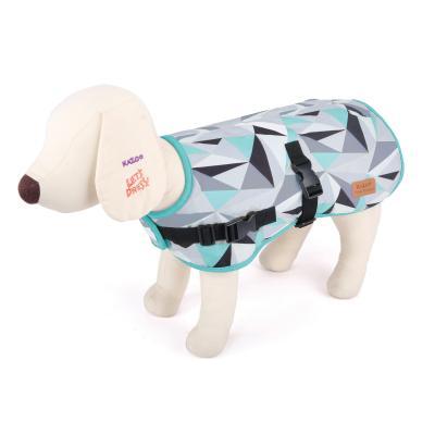 Kazoo Funky Abstract Nylon Dog Coat Mint And Grey Medium 46.5cm