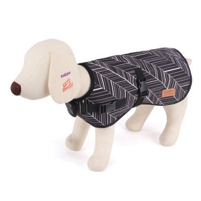 Kazoo Funky Ebony Nylon Dog Coat Black And White Intermediate 53cm