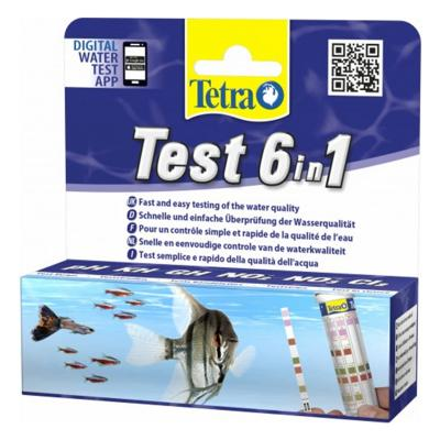 Tetra Test 6in1 Aquarium Tank Water Test Strip 25 Pack For Fish
