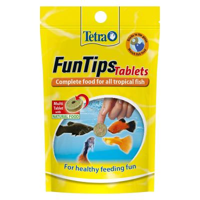 Tetra Fun Tips Tropical Treat And Food For Fish 20 Tablets 8g