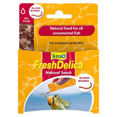 Tetra FreshDelica Natural Snack Treat Bloodworms Gel Food For Fish 16x 3g Sachet (48g)