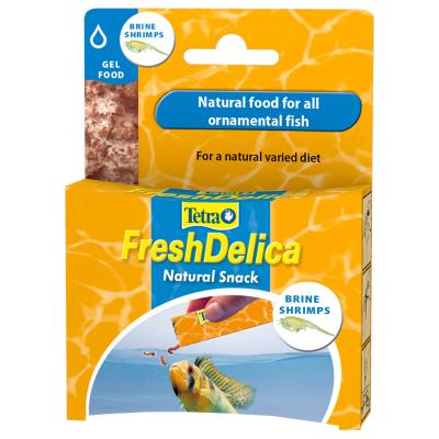 Tetra FreshDelica Natural Snack Treat Brine Shrimp Gel Food For Fish 16x 3g Sachet (48g)