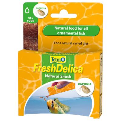 Tetra FreshDelica Natural Snack Treat Daphnia Gel Food For Fish 16x 3g Sachet (48g)