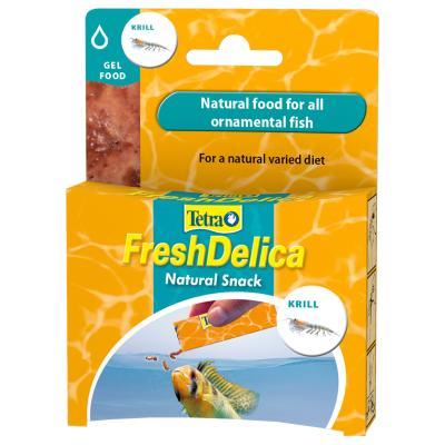 Tetra FreshDelica Natural Snack Treat Krill Gel Food For Fish 16x 3g Sachet (48g)
