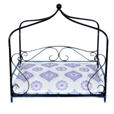 Luv A Pet Luxury Deluxe Wrought Iron Court Scroll Style Bed For Dogs And Cats