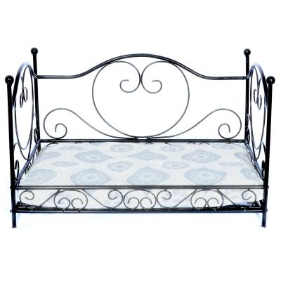 Luv A Pet Luxury Deluxe Wrought Iron Heart Scroll Style Bed For Dogs And Cats