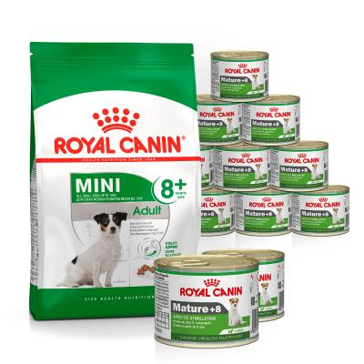 Royal Canin Bundle Mini 8+ Years Mature/Senior Wet And Dry Dog Food