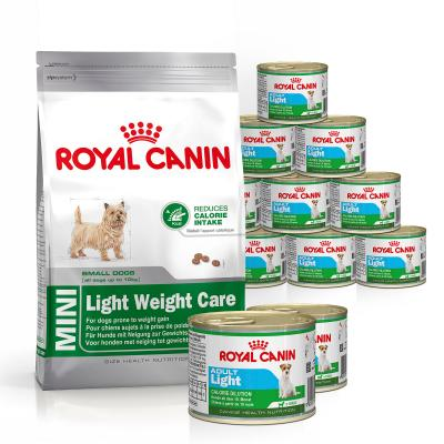 Royal Canin Bundle Mini Light Weight Care Mini Adult Wet And Dry Dog Food
