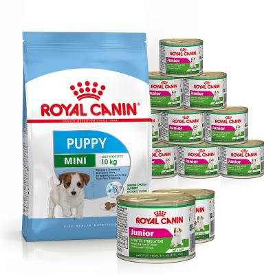 Royal Canin Bundle Mini Puppy/Junior Wet And Dry Dog Food